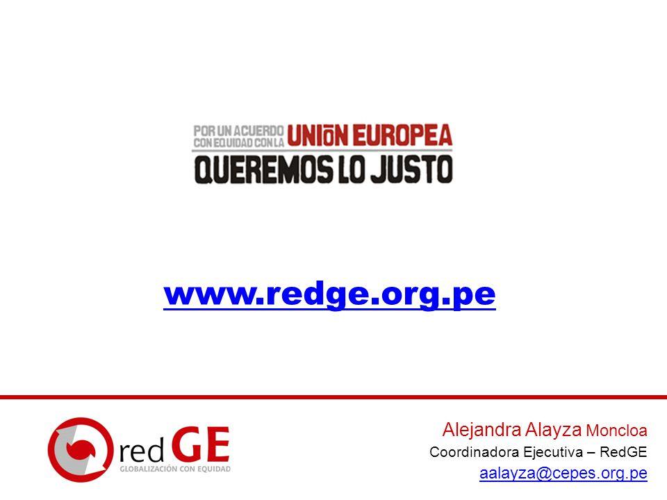 www.redge.org.pe Alejandra Alayza Moncloa aalayza@cepes.org.pe