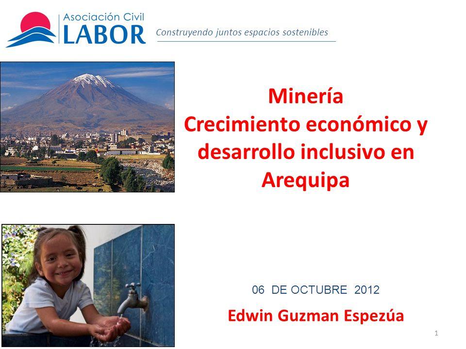 Crecimiento económico y desarrollo inclusivo en Arequipa