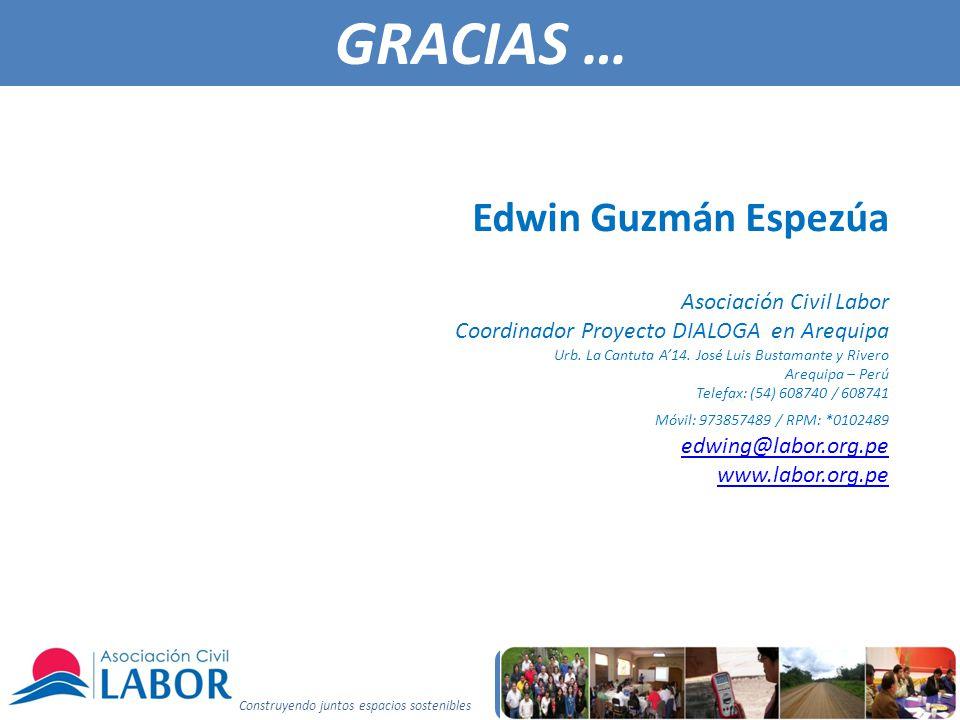 GRACIAS … Edwin Guzmán Espezúa Asociación Civil Labor