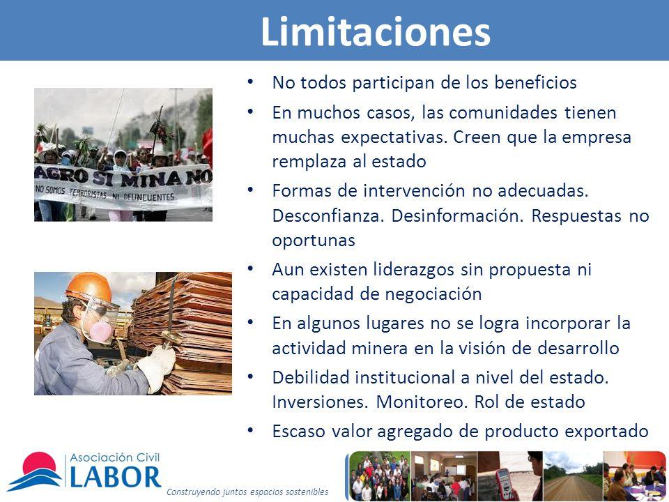 Limitaciones No todos participan de los beneficios