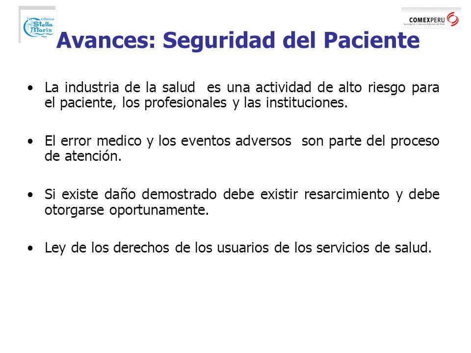 Avances: Seguridad del Paciente