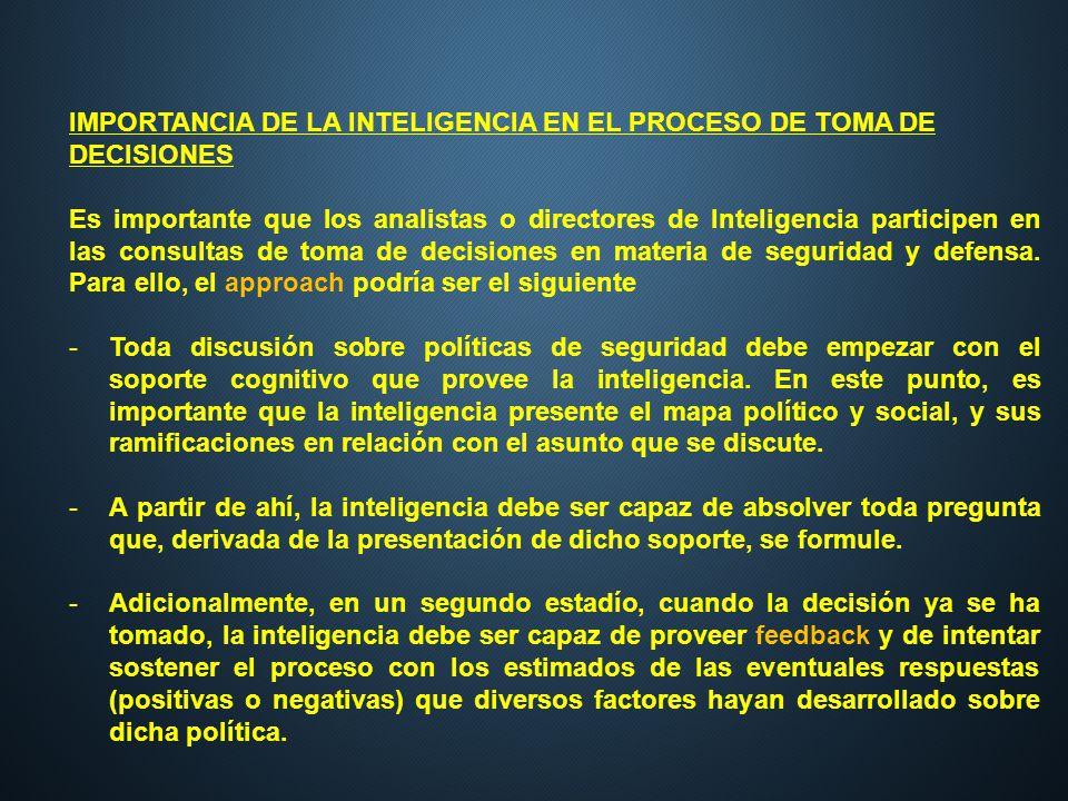 IMPORTANCIA DE LA INTELIGENCIA EN EL PROCESO DE TOMA DE DECISIONES