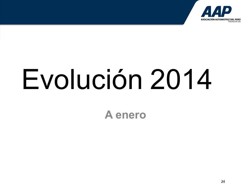 Evolución 2014 A enero