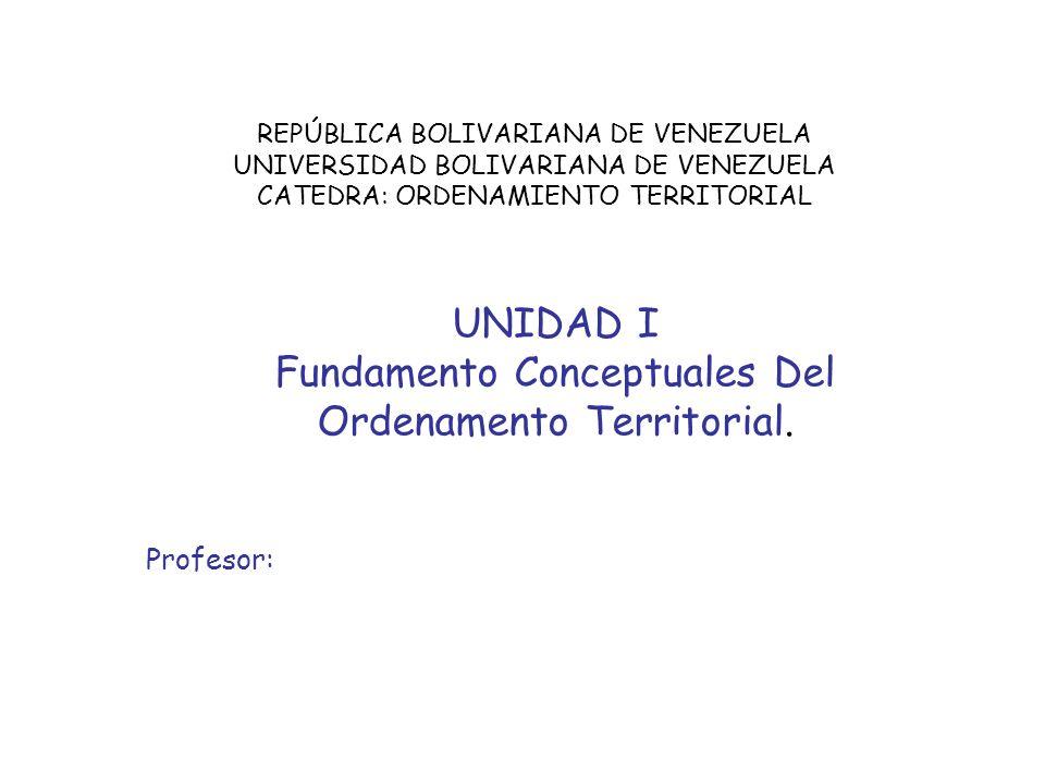 Fundamento Conceptuales Del Ordenamento Territorial.
