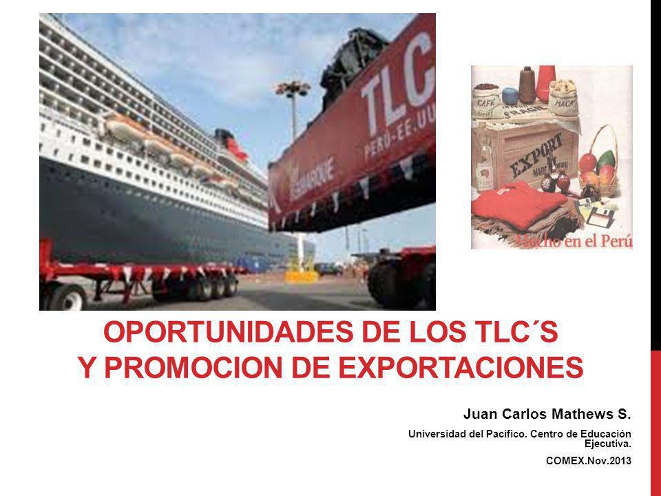 OPORTUNIDADES DE LOS TLC´s Y PROMOCION DE EXPORTACIONES