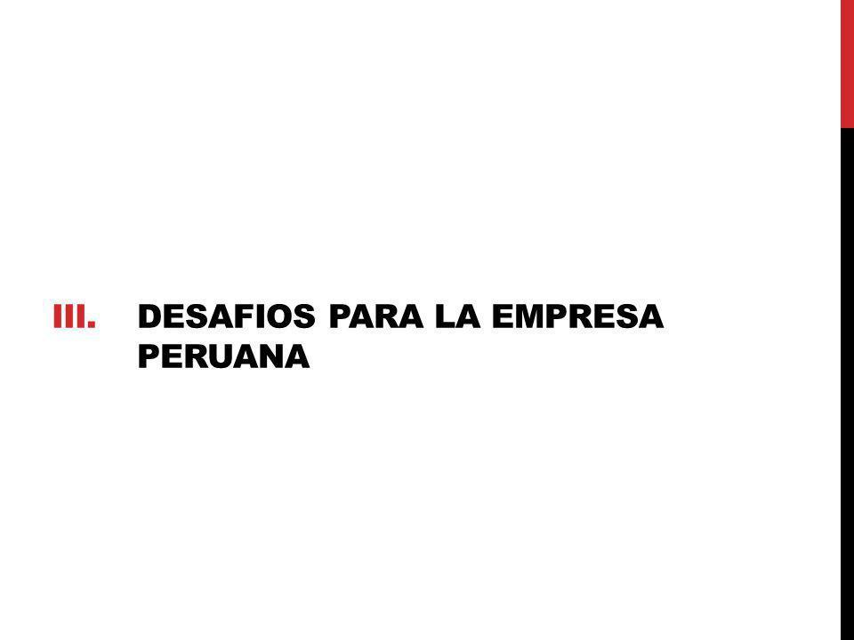 iiI. DESAFIOS PARA LA EMPRESA PERUANA