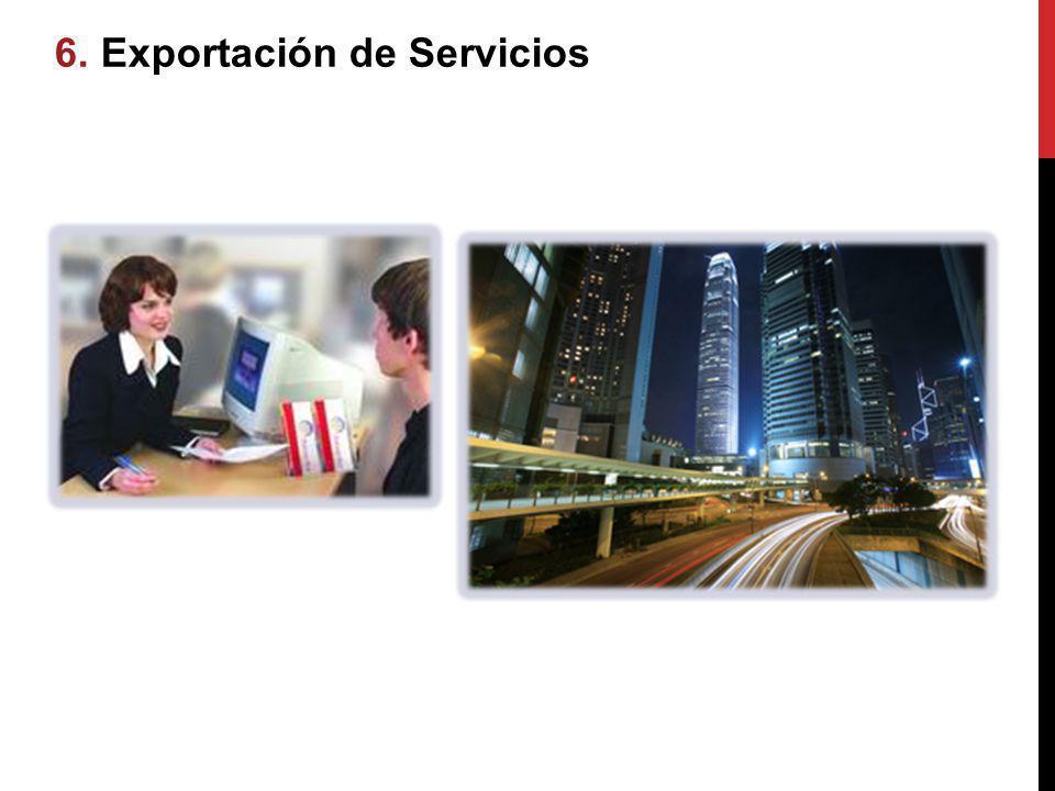 6.6. Exportación de Servicios