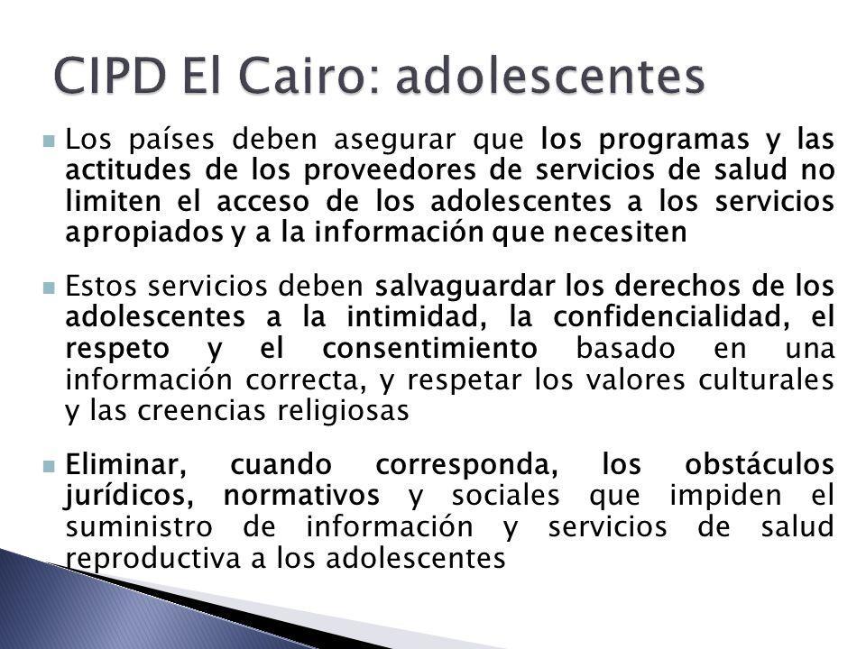 CIPD El Cairo: adolescentes