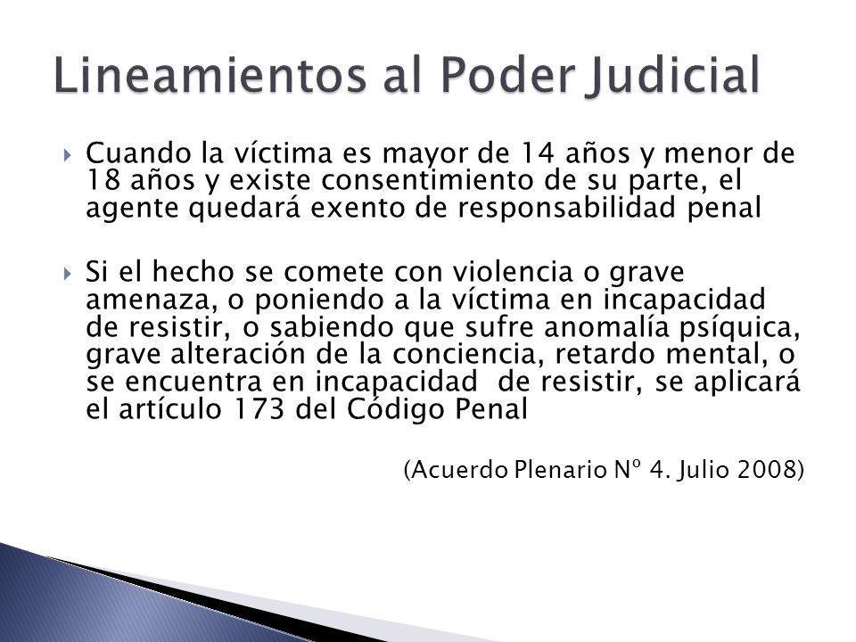 Lineamientos al Poder Judicial