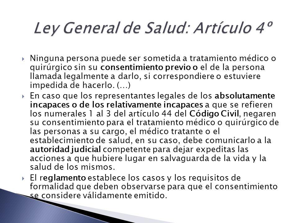 Ley General de Salud: Artículo 4º