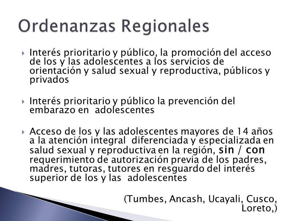 Ordenanzas Regionales