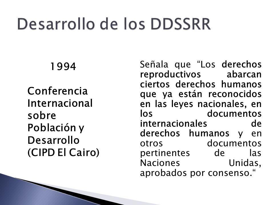 Desarrollo de los DDSSRR