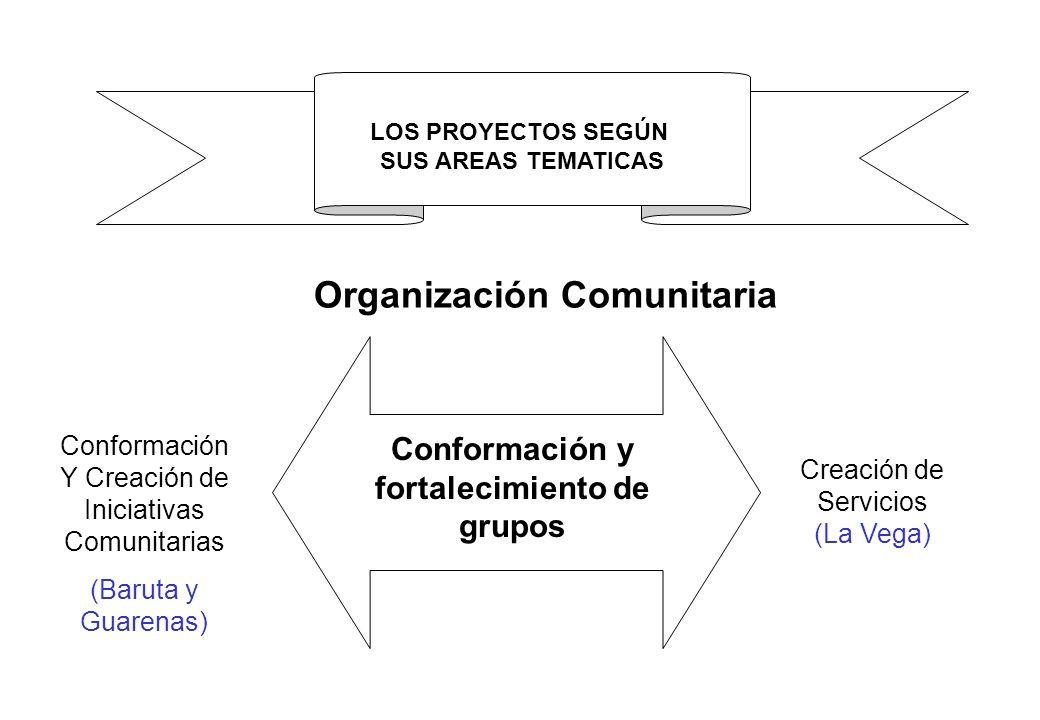 Conformación y fortalecimiento de grupos