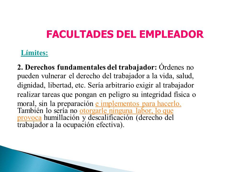 FACULTADES DEL EMPLEADOR