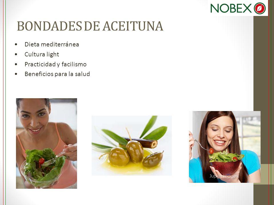 BONDADES DE ACEITUNA Dieta mediterránea Cultura light