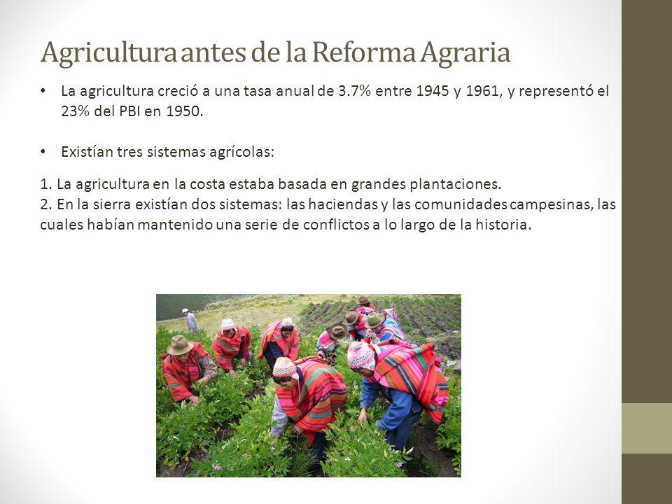 Agricultura antes de la Reforma Agraria