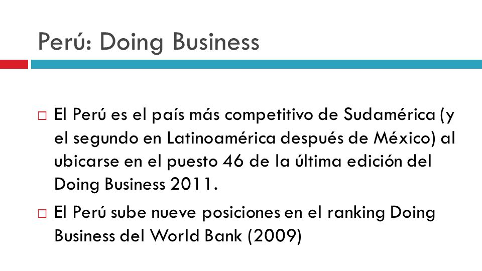 Perú: Doing Business