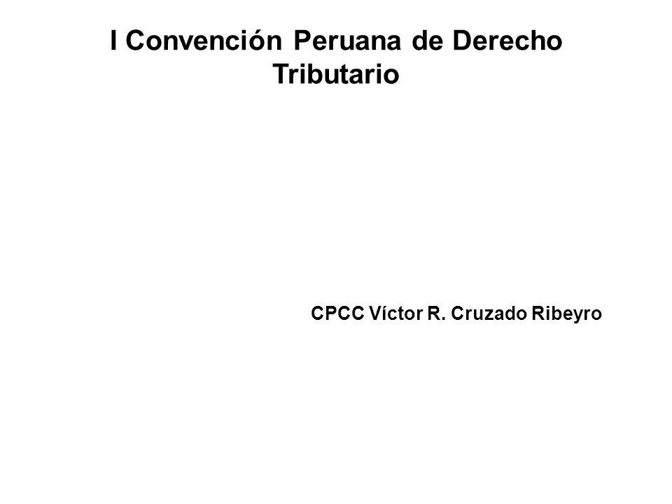 I Convención Peruana de Derecho Tributario