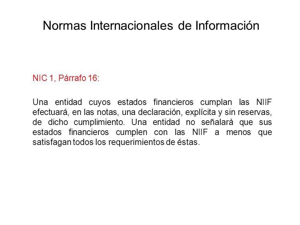 Normas Internacionales de Información