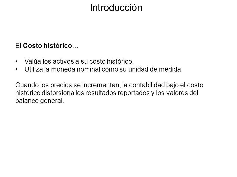 Introducción El Costo histórico…