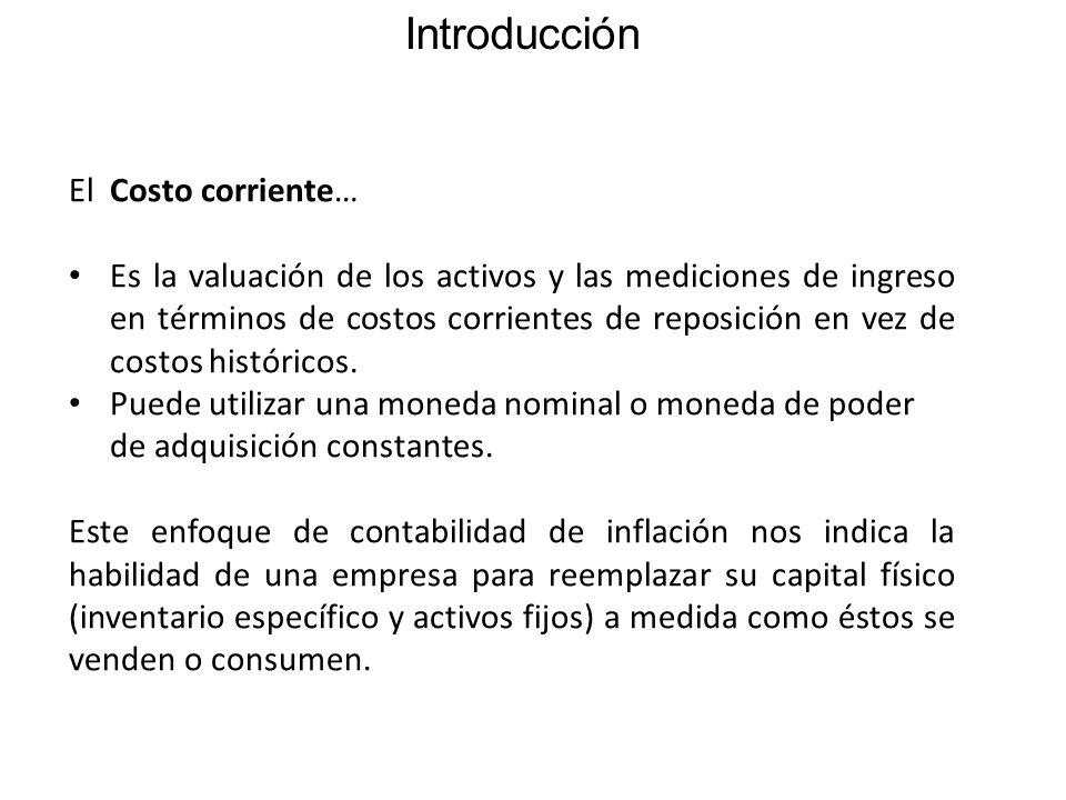 Introducción El Costo corriente…