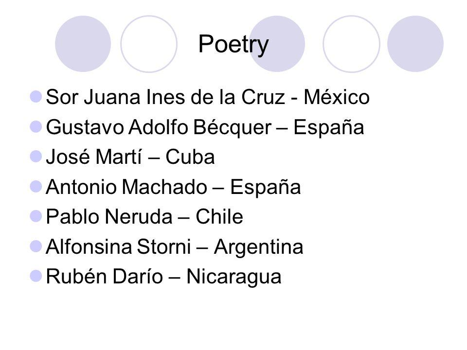 Poetry Sor Juana Ines de la Cruz - México