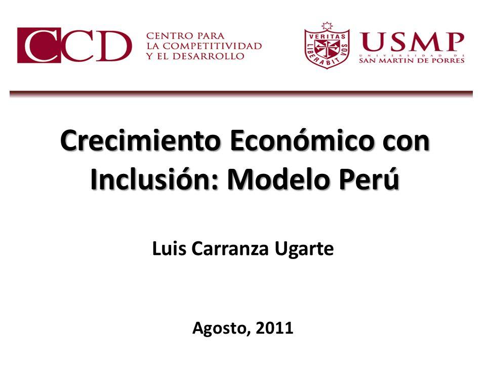 Crecimiento Económico con Inclusión: Modelo Perú