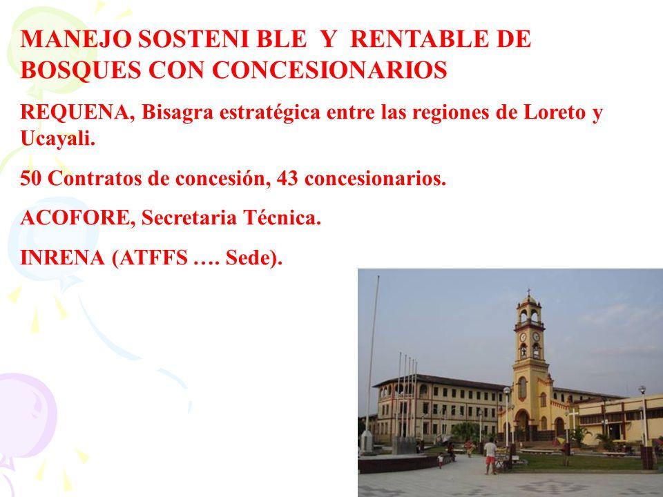 MANEJO SOSTENI BLE Y RENTABLE DE BOSQUES CON CONCESIONARIOS