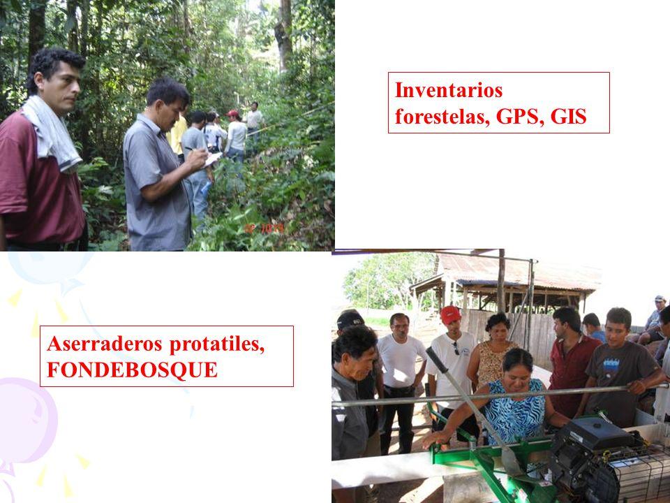 Inventarios forestelas, GPS, GIS