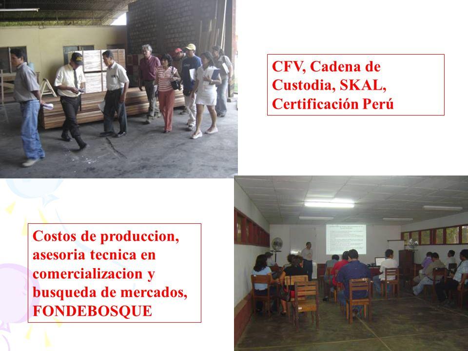 CFV, Cadena de Custodia, SKAL, Certificación Perú
