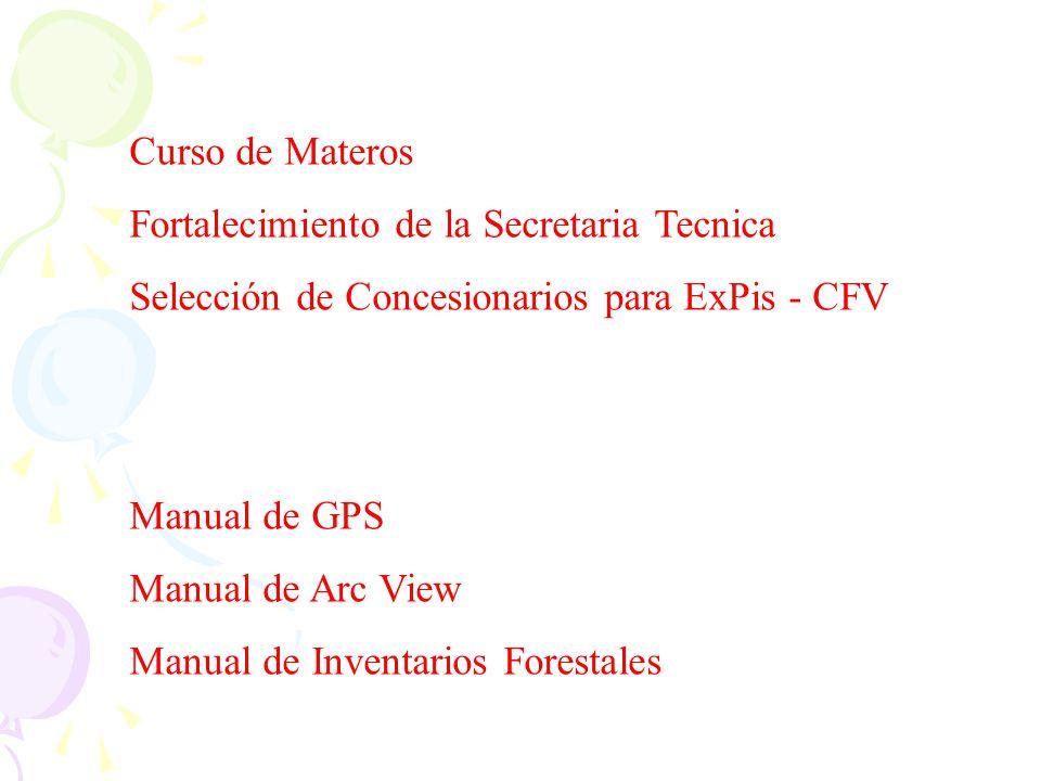 Curso de Materos Fortalecimiento de la Secretaria Tecnica. Selección de Concesionarios para ExPis - CFV.