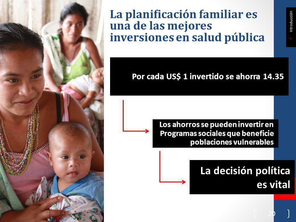 La planificación familiar es una de las mejores inversiones en salud pública