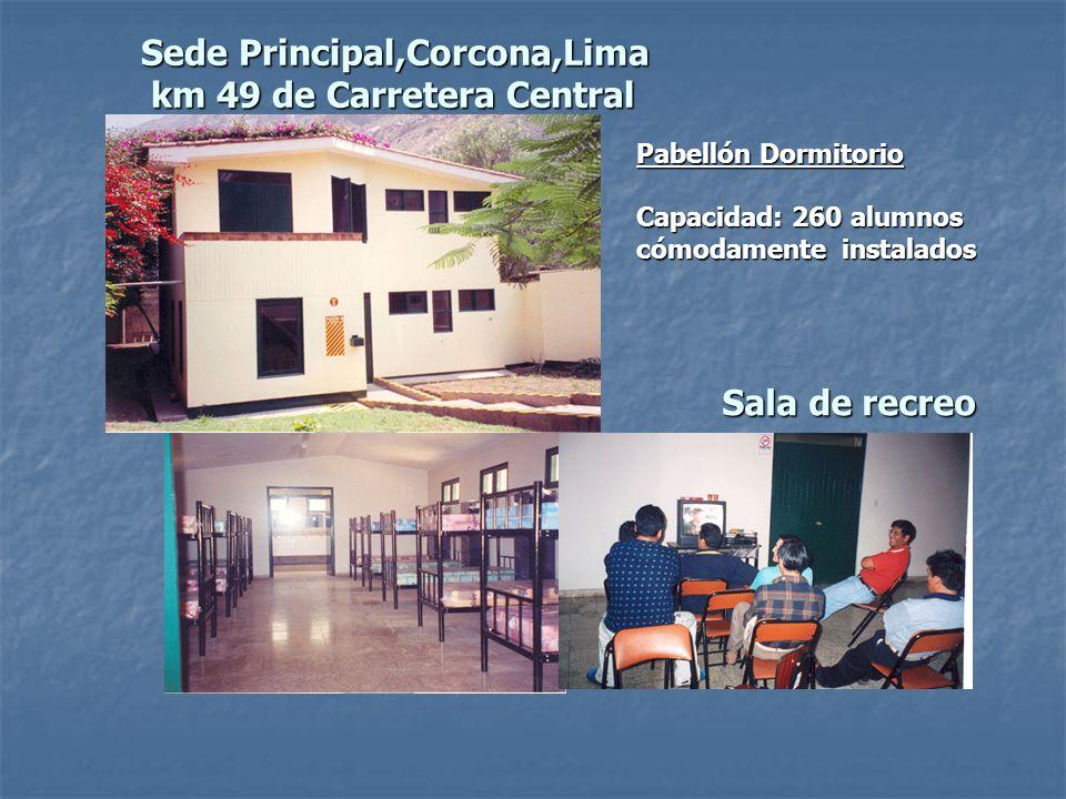 Sede Principal,Corcona,Lima km 49 de Carretera Central