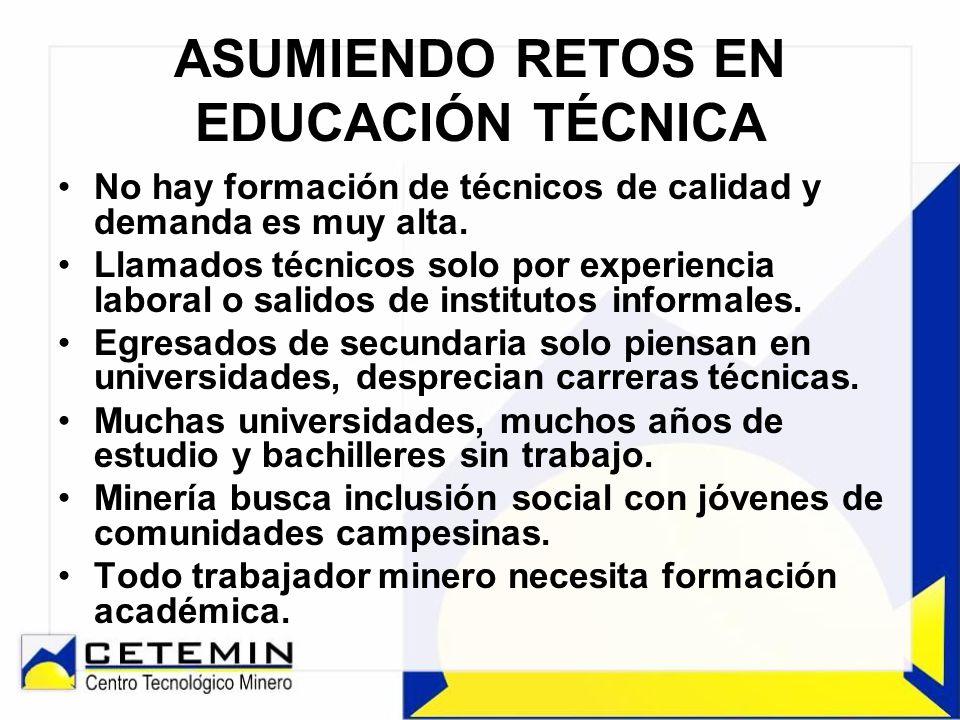 ASUMIENDO RETOS EN EDUCACIÓN TÉCNICA