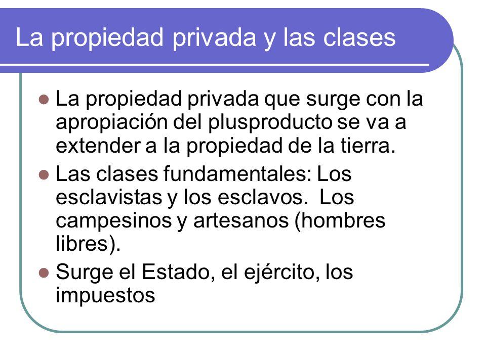 La propiedad privada y las clases