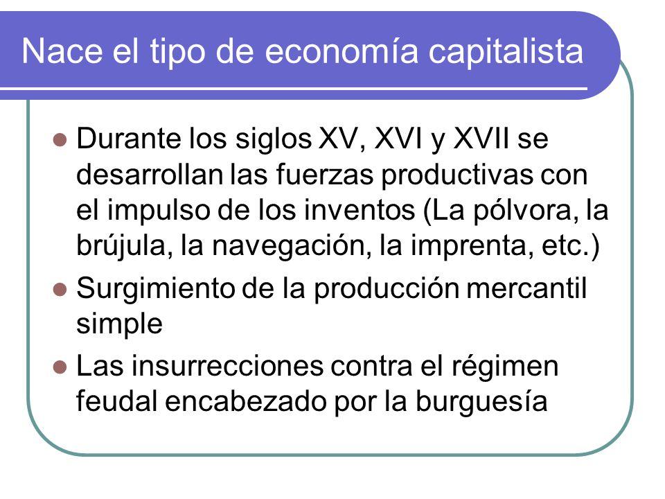 Nace el tipo de economía capitalista