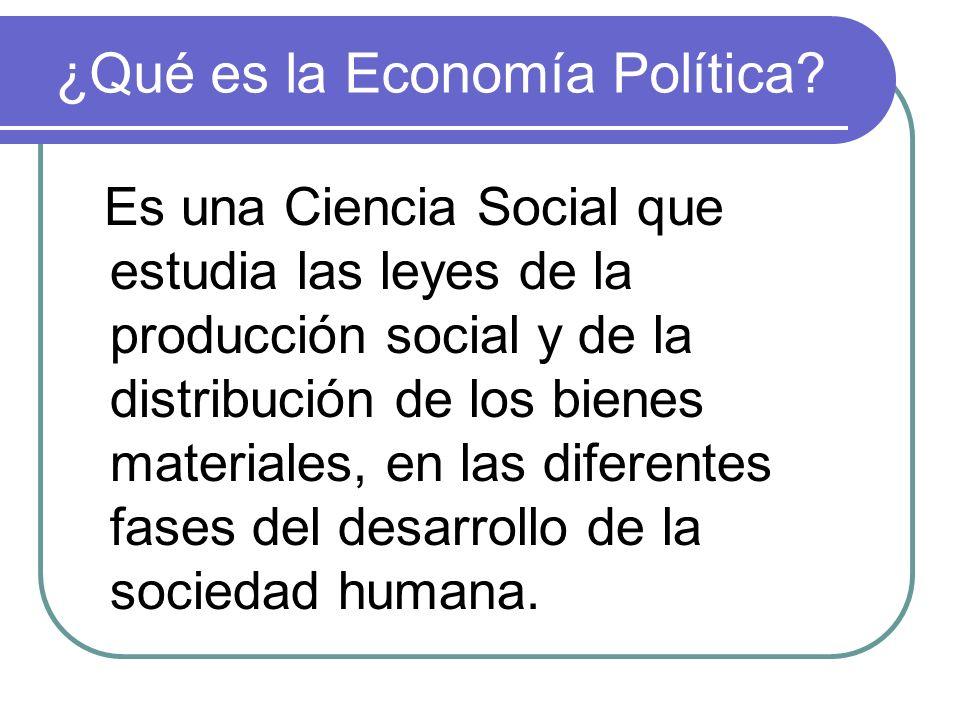 ¿Qué es la Economía Política