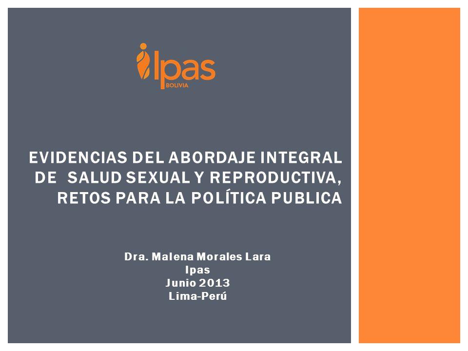 Dra. Malena Morales Lara Ipas Junio 2013 Lima-Perú