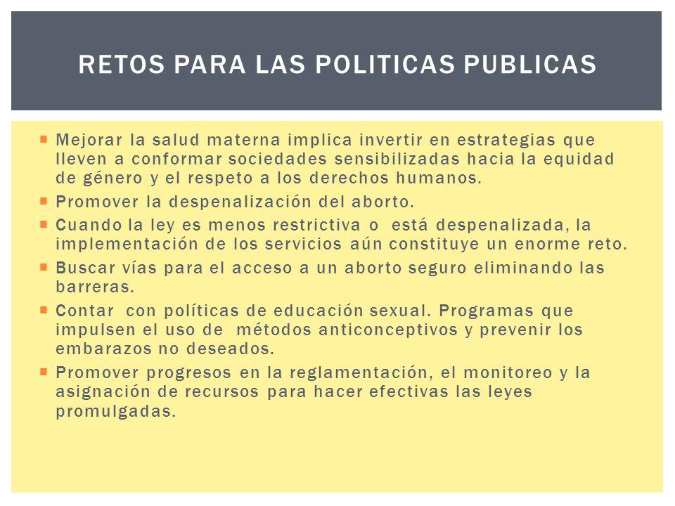 retos PARA LAS POLITICAS PUBLICAS