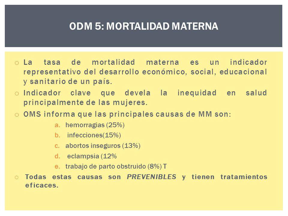 ODM 5: MORTALIDAD MATERNA