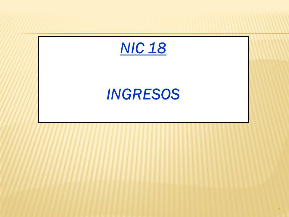 NIC 18 INGRESOS