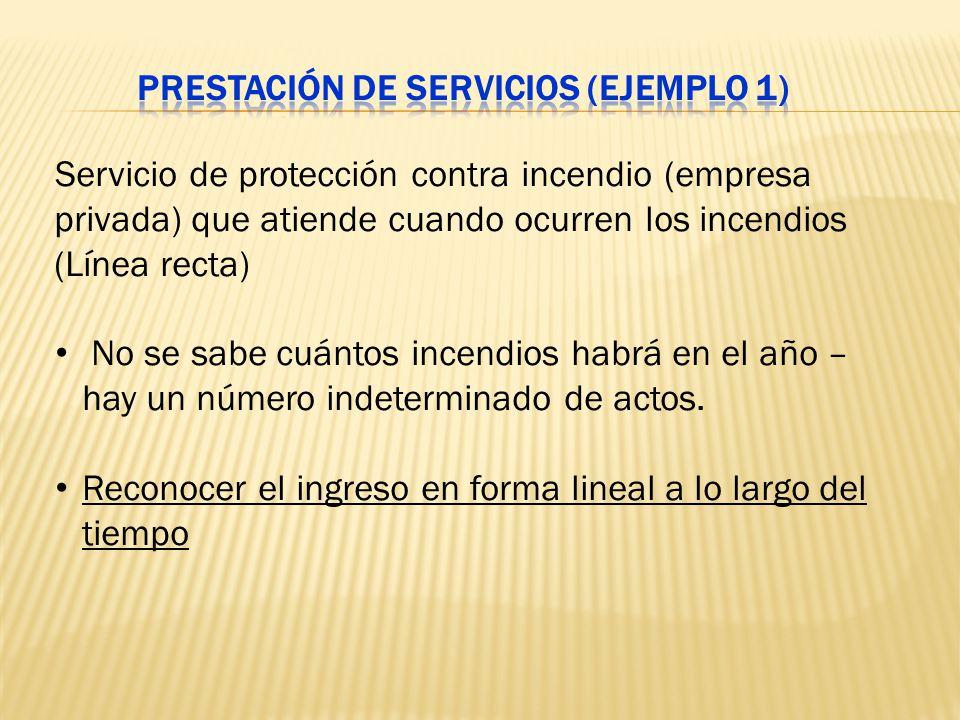 Prestación de servicios (Ejemplo 1)