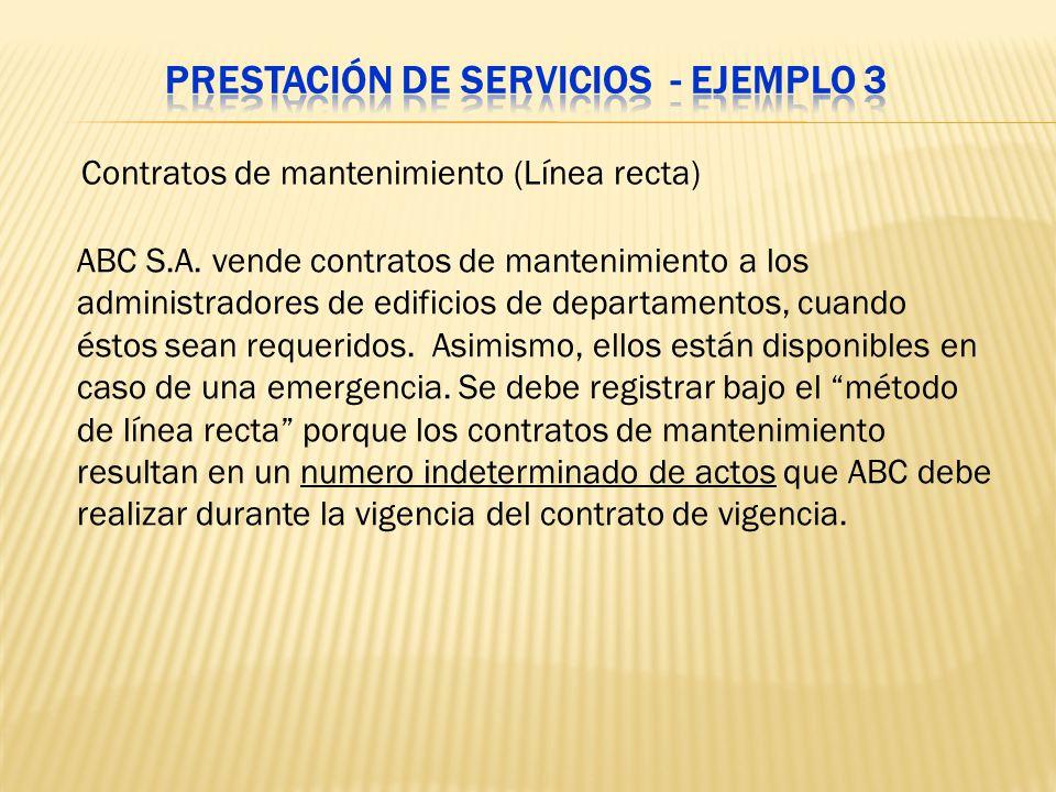 Prestación de servicios - Ejemplo 3