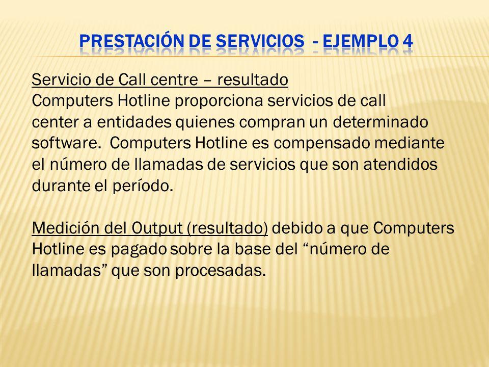 Prestación de servicios - Ejemplo 4