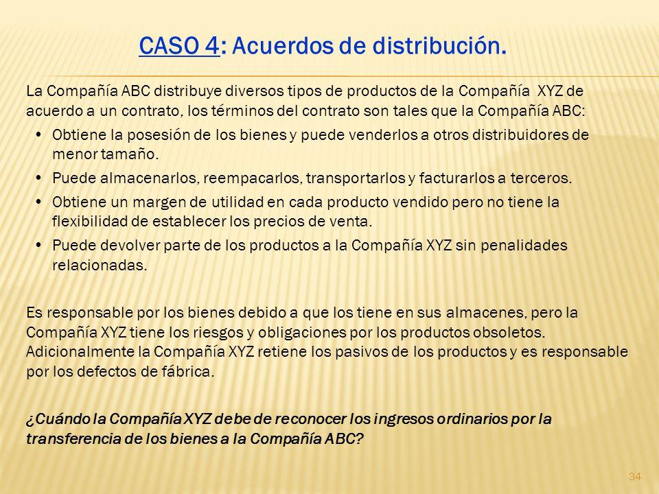 CASO 4: Acuerdos de distribución.