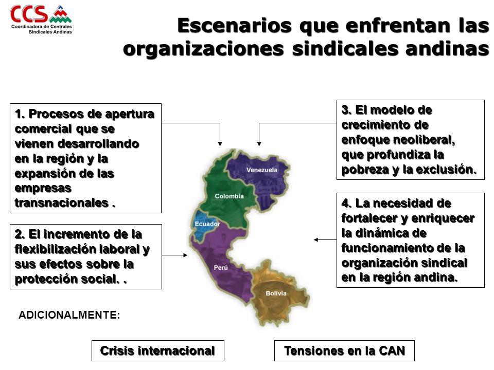 Escenarios que enfrentan las organizaciones sindicales andinas