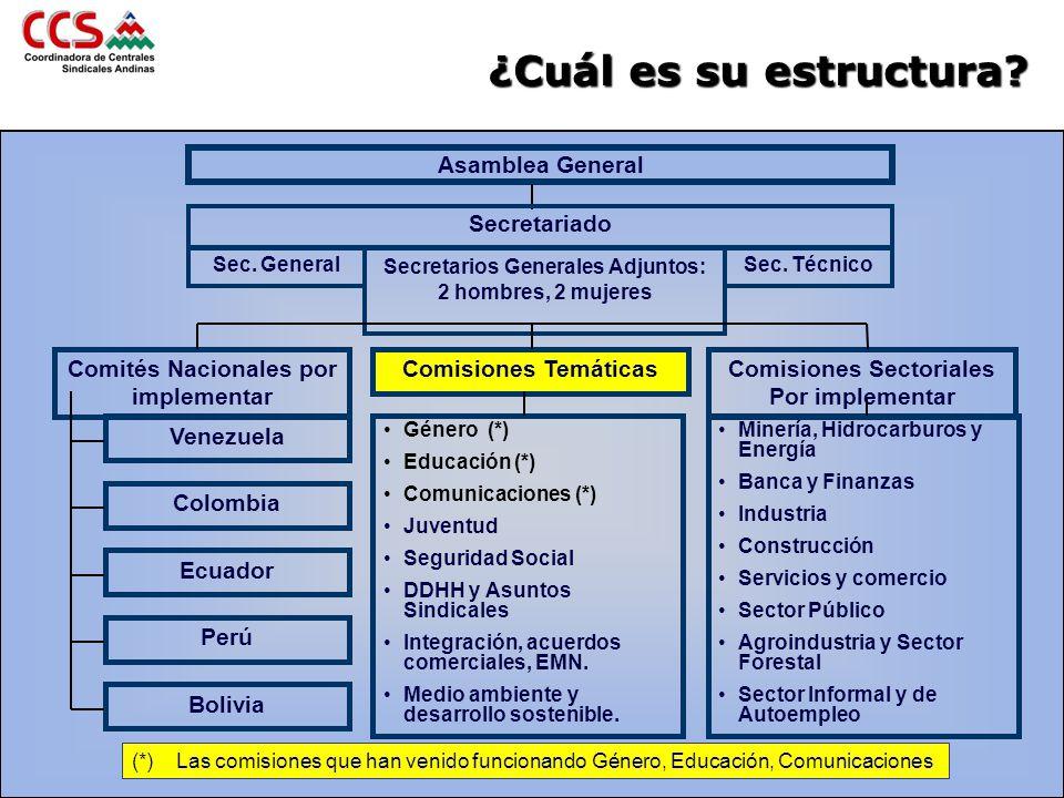 ¿Cuál es su estructura Asamblea General Secretariado