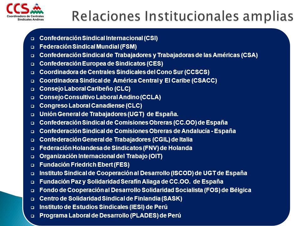 Relaciones Institucionales amplias
