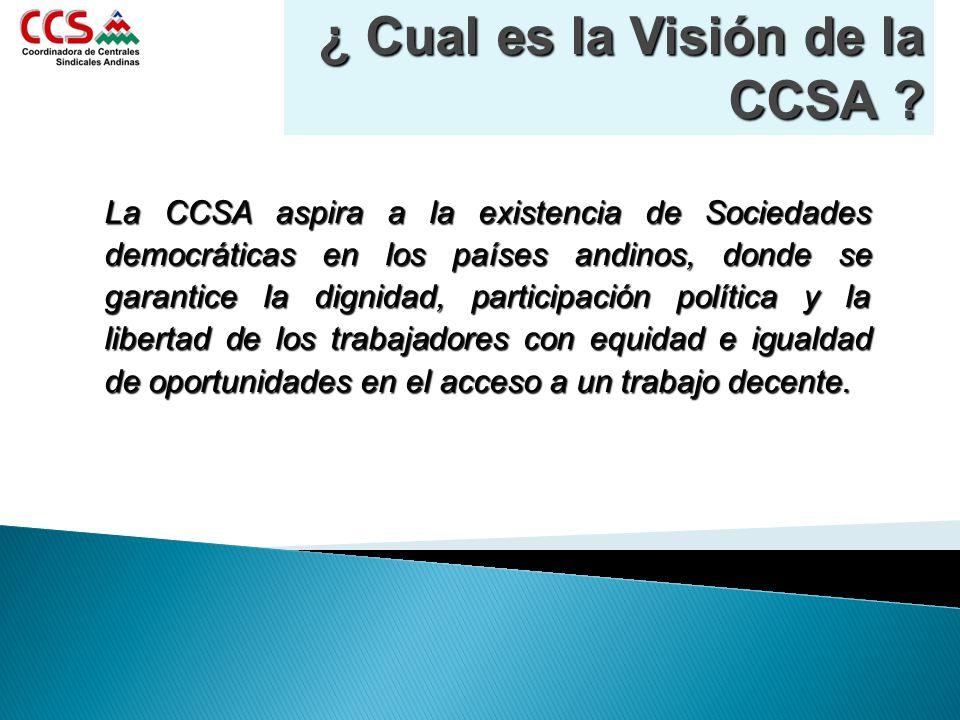 ¿ Cual es la Visión de la CCSA