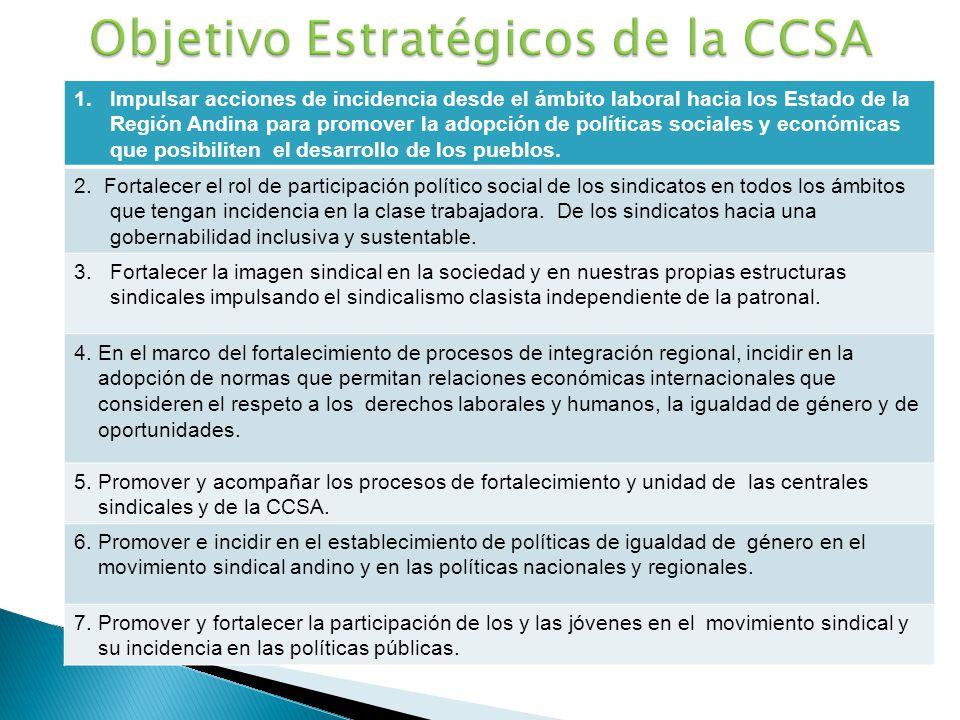 Objetivo Estratégicos de la CCSA